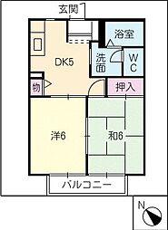 ルミエール777 C棟[2階]の間取り