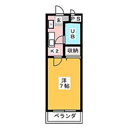 アスク田中[1階]の間取り