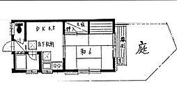神奈川県横浜市保土ケ谷区岩井町の賃貸マンションの間取り