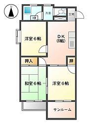 和宏ハイツ[3階]の間取り