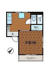 リバーサイド柿生[1階]の間取り