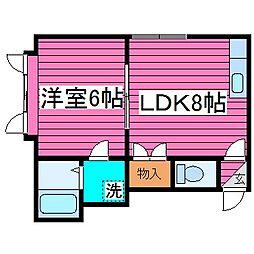 北海道札幌市東区北三十五条東9丁目の賃貸アパートの間取り