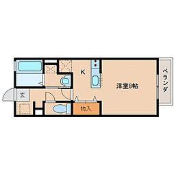 奈良県橿原市石川町の賃貸アパートの間取り