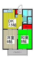 堺レジデンス[1階]の間取り