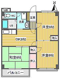 埼玉県飯能市原町の賃貸マンションの間取り