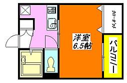 ポプルス・ONE 205号室[2階]の間取り