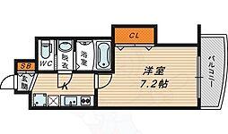 Osaka Metro長堀鶴見緑地線 今福鶴見駅 徒歩5分の賃貸マンション 10階1Kの間取り