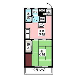 コーラルマンション[1階]の間取り