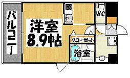 エンクレスト博多 Rey〜レイ〜[2階]の間取り