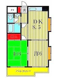 ロイヤルメゾンソフィア[3階]の間取り