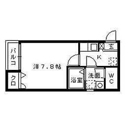 リブレア七隈駅前A[1階]の間取り