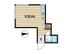 東京都豊島区南長崎1丁目の賃貸アパートの間取り