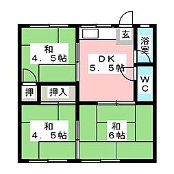 ハイツ桜ヶ丘[1階]の間取り