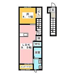 グランエクシード[2階]の間取り
