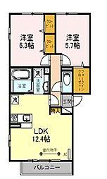 (仮) D-room朝霞市膝折町2丁目[3階]の間取り