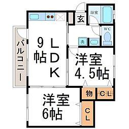 清和ハイツ[1階]の間取り