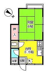 第二町田荘[205号室]の間取り