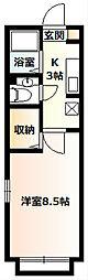 エミール湘南[106号室]の間取り