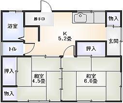 [一戸建] 神奈川県小田原市蓮正寺 の賃貸【/】の間取り