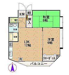 シェラ三川口[5階]の間取り