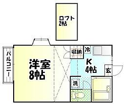 第2プリンスハイツ[2-D号室]の間取り