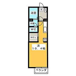 シャインIII[1階]の間取り