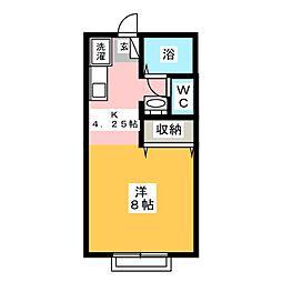 アルトハイデII B棟[2階]の間取り