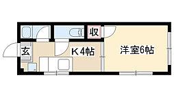 愛知県名古屋市昭和区鶴舞4丁目の賃貸マンションの間取り