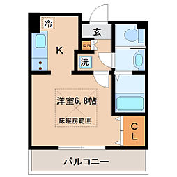 HF仙台レジデンスEAST[9階]の間取り