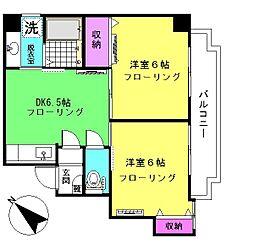 カーサ須永[2階]の間取り