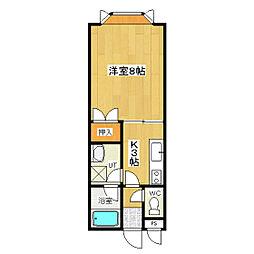 春光ハウス1[203号室]の間取り
