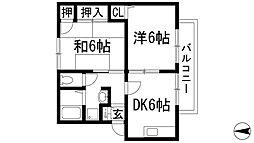 カリヨン[2階]の間取り