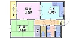 メゾンアーバンスコープ[3階]の間取り