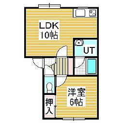 レジデンスM-2[1階]の間取り