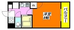 フローラル・こさか 502号室[5階]の間取り