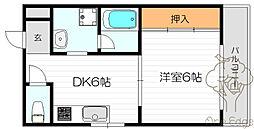 あさひマンション[4階]の間取り