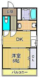 香光苑マンション[3階]の間取り