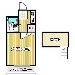 愛知県名古屋市中川区荒子町字宮窓の賃貸アパートの間取り