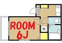 神奈川県横浜市南区若宮町2丁目の賃貸アパートの間取り