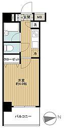 東京都品川区東五反田5丁目の賃貸マンションの間取り