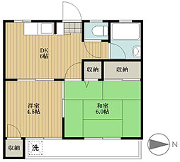 島崎荘[2階]の間取り