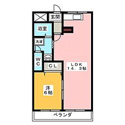 ホワイトレジデンス前並[2階]の間取り