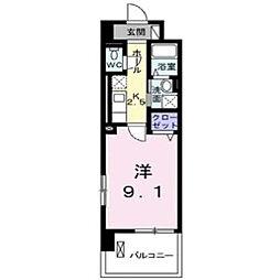 グランデ新宿[704号室]の間取り
