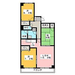シャトー岡崎 I番館[7階]の間取り