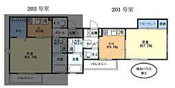 (仮)中原町新築アパート[201号室]の間取り