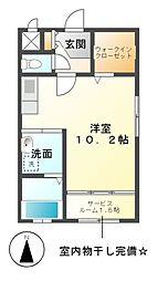 愛知県名古屋市緑区鳴海町字水広下の賃貸マンションの間取り