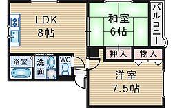 エレガンス穂積3号館[2階]の間取り