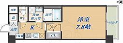 CASSIA高井田NorthCourt 7階1Kの間取り
