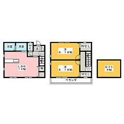 [テラスハウス] 愛知県名古屋市名東区藤森西町 の賃貸【/】の間取り