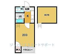 ドゥミール博多駅東[202号室]の間取り